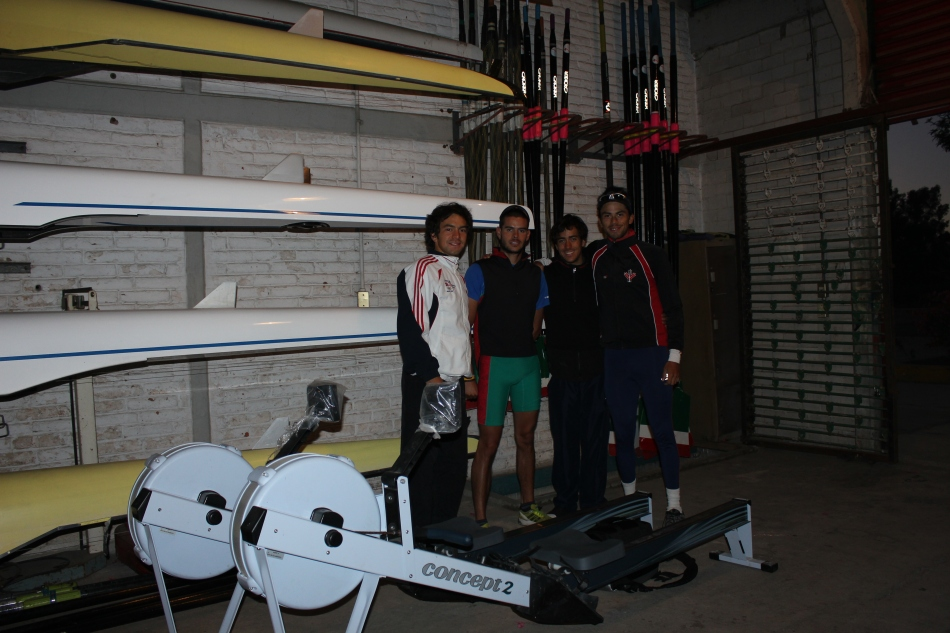 Juan,Jhosy, Omar and Myself, first morning row in the 4-